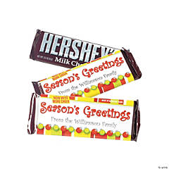 """Season's Greetings"" Hershey's® Bar Labels"