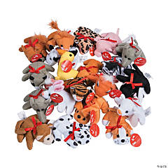 Exchange Mini Bean Bag Plush Animal ssortment