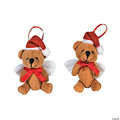 Plush Angel Bear Christmas Ornaments