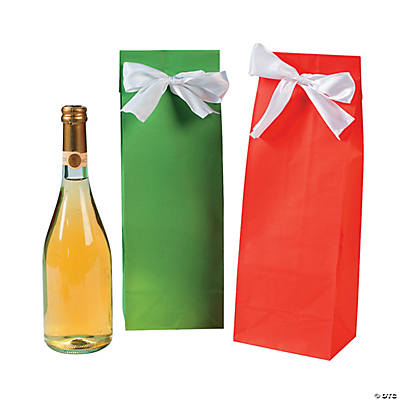 Red & Green Wine Bags