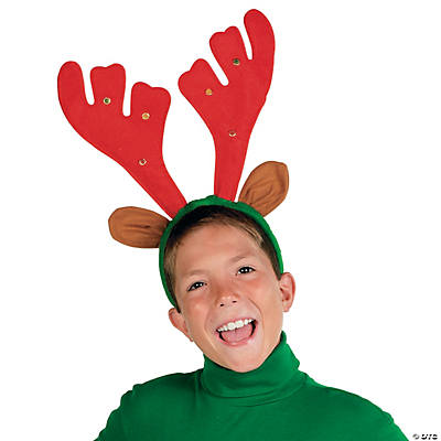 Light-Up Musical Reindeer Antlers Headband