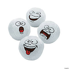Funny Face Plush Snowballs