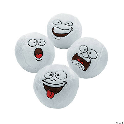 Plush Funny Face Snowballs
