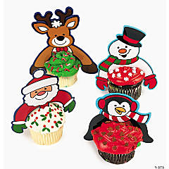 Christmas Character Cupcake Picks