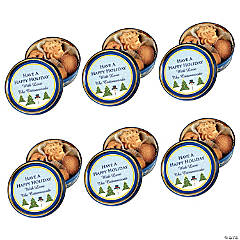 Personalized Holiday Cookie Tins