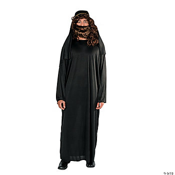 Adult Nativity Black Robe & Hat