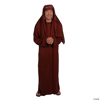 Adult Nativity Maroon Robe & Hat
