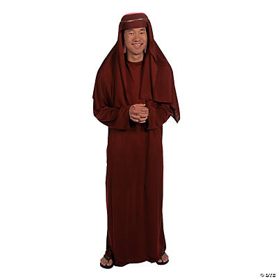 Maroon Nativity Robe & Hat - Adult
