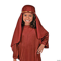 Polyester Nativity Child Hat - Maroon