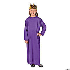 Child Purple Nativity Gown