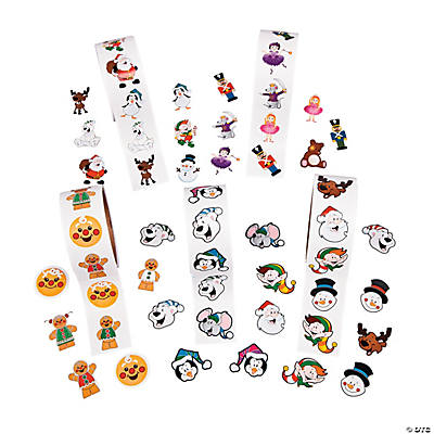 Holiday Characters Roll Sticker Assortment