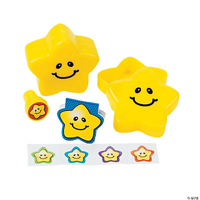 Stationery-Filled Smiling Stars