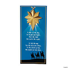 Guiding Star Christmas Ornaments on Wise Men Story Cards