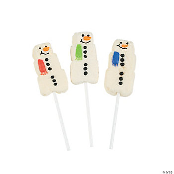 Snowman Marshmallow Suckers