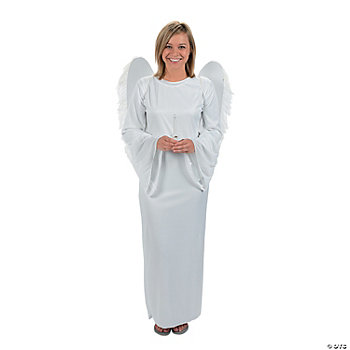 Angel Adult Gown With Wings & Candle