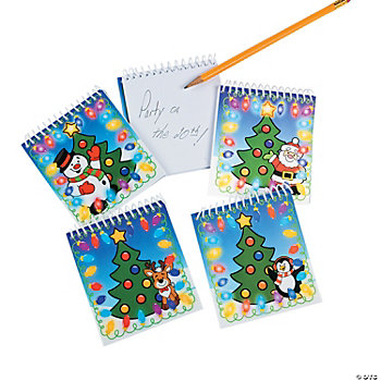 """Blinking"" Christmas Lights Lenticular Notepads"