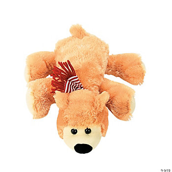 Plush Holiday Bear With Scarf