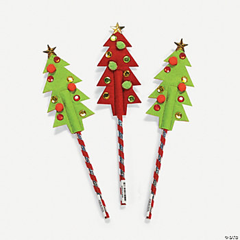 Holiday Tree Pencil Toppers