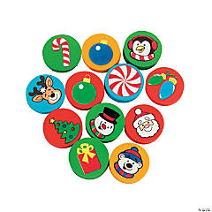 Holiday Disk Erasers