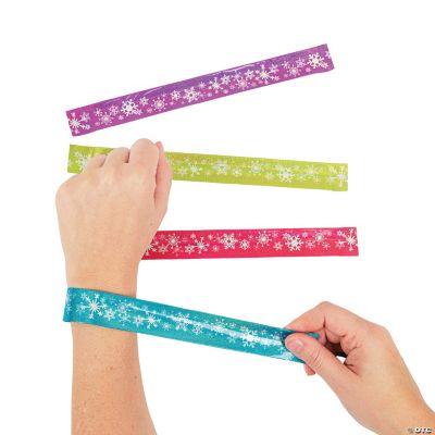 Bright Snowflake Prismatic Slap Bracelets