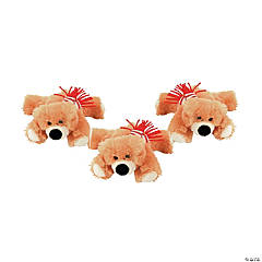 Plush Holiday Bears with Scarf
