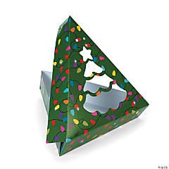 Christmas Tree-Shaped Window Cookie Boxes