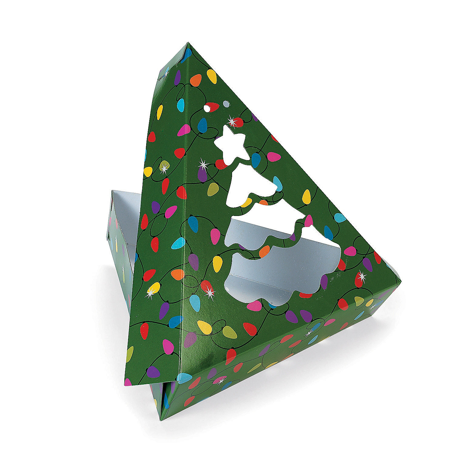 Christmas tree shaped window cookie boxes oriental trading for Christmas tree in a box