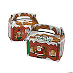"Cardboard ""Santa's Workshop"" Treat Boxes"