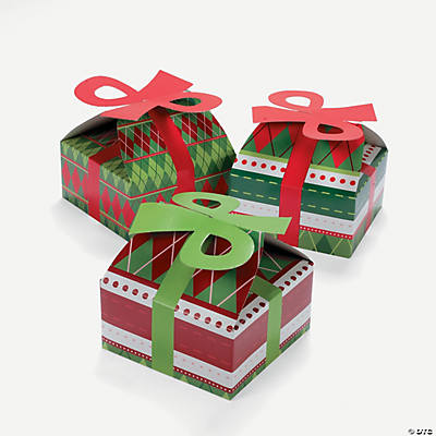 3D Argyle Print Christmas Boxes