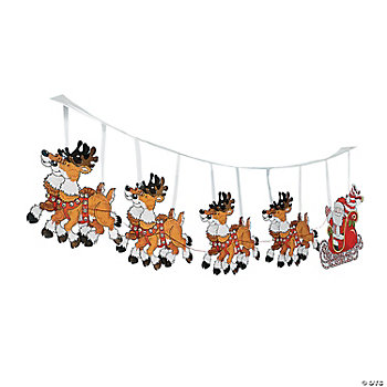 Santa's Sleigh Ceiling Decoration