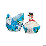 Snowman Cupcake Liners with Picks