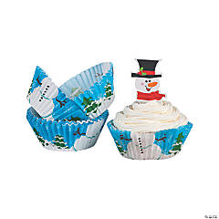 Snowman Baking Cups With Picks