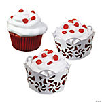 Laser-Cut Peppermint Cupcake Collars & Cups