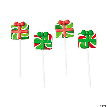 Christmas Gift Frosted Swirl Pops