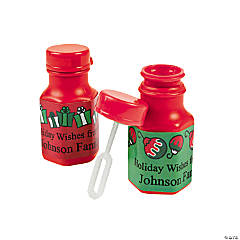 Personalized Mini Christmas Bubble Bottles