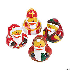 Vintage St. Nick Rubber Duckies