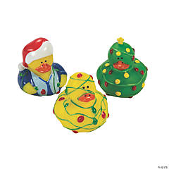 Christmas Lights Rubber Duckies