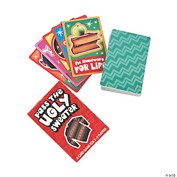 """Pass The Ugly Sweater"" Card Games"
