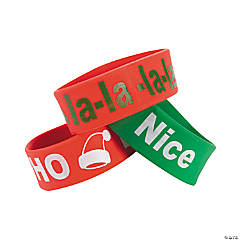 Holiday Sayings Big Band Bracelets