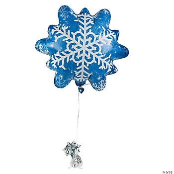 Snowflake-Shaped Mylar Balloon
