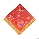Red & White Reindeer Luncheon Napkins