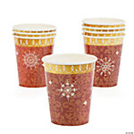 Red & White Reindeer Cups