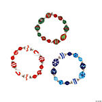 Holiday Glass Beaded Bracelets