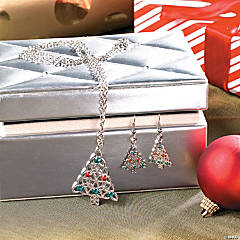 Celtic Christmas Tree Necklace & Earrings