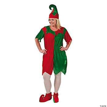 Adult Plus Size Women's Elf Costume