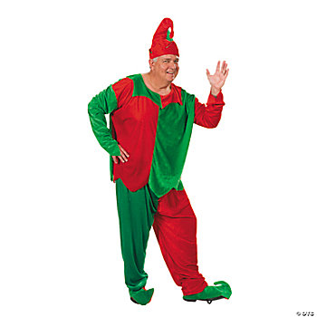 Adult Plus Size Men's Elf Costume