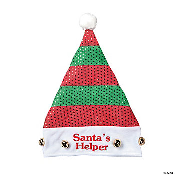 """Santa's Helper"" Striped Elf Hat"