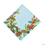 Cardinal & Holly Luncheon Napkins