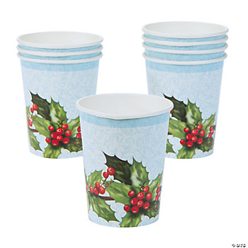 Cardinal & Holly Cups