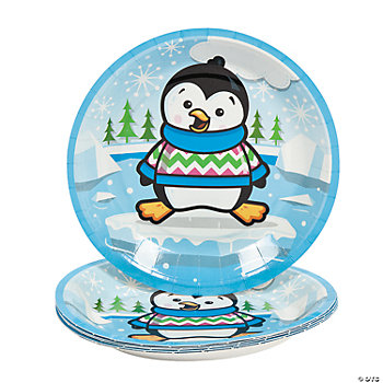 Penguin Party Dessert Plates